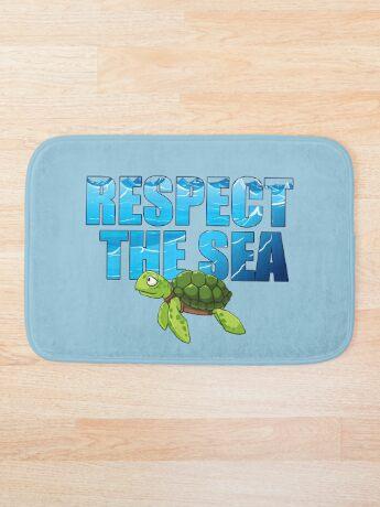 Respect the Sea Bath Mat