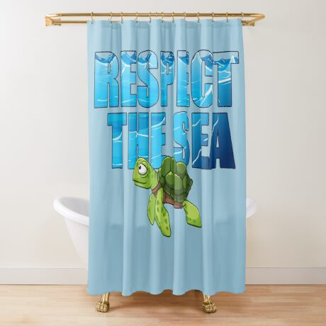 Respect the Sea Shower Curtain