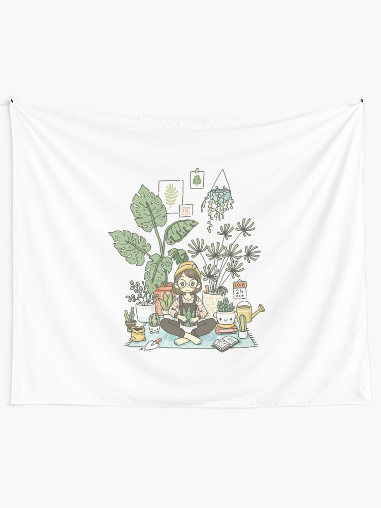 Alternate view of Plant Lady Tapestry