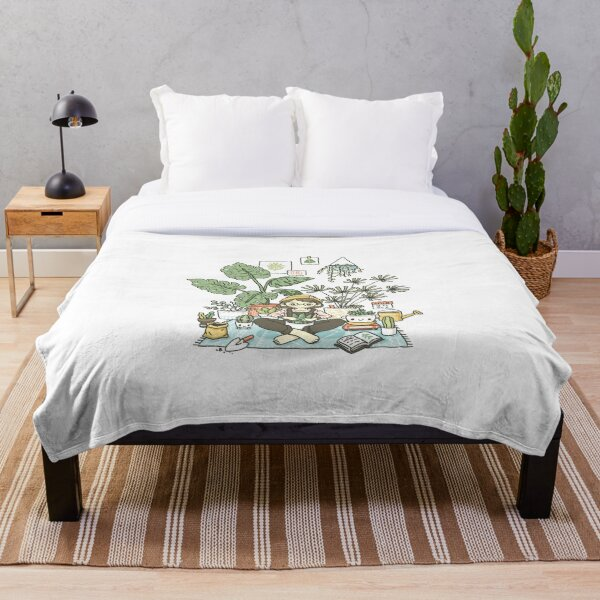 Plant Lady Throw Blanket