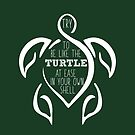 Try to be like the turtle, at ease in your own shell.  by mavisshelton