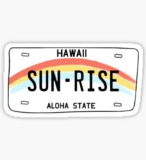 hawaii license plate Glossy Sticker