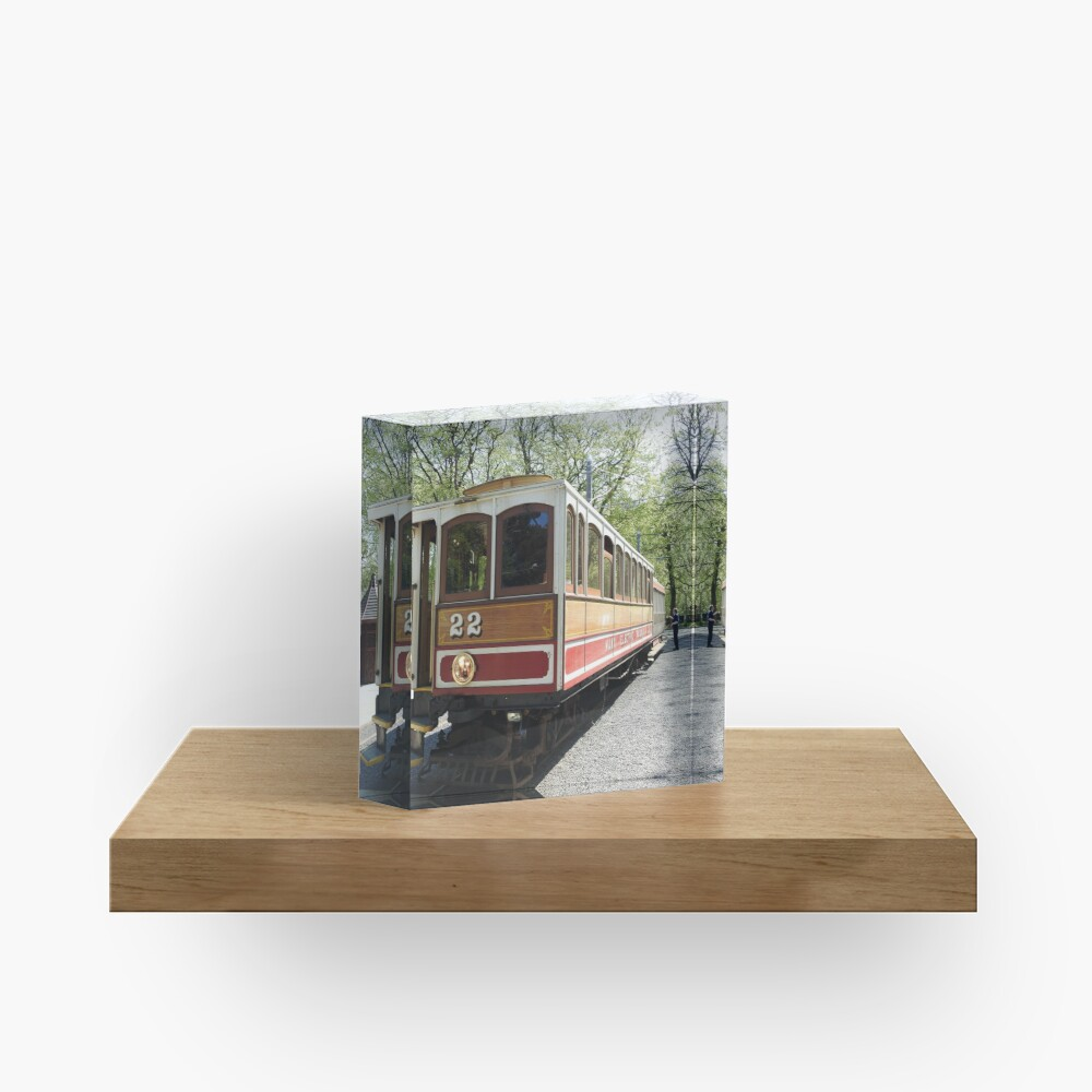 Isle of Man Vintage Victorian Electric Tram Railway at Laxey Acrylic Block