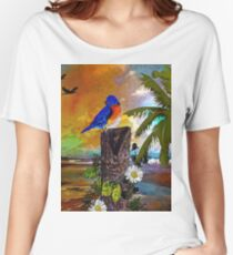 Birds at the Beach Women's Relaxed Fit T-Shirt