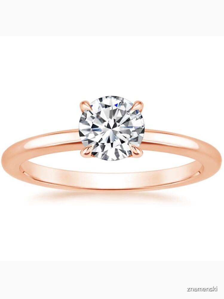 Engagement #ring #yellow #gold #diamond by znamenski