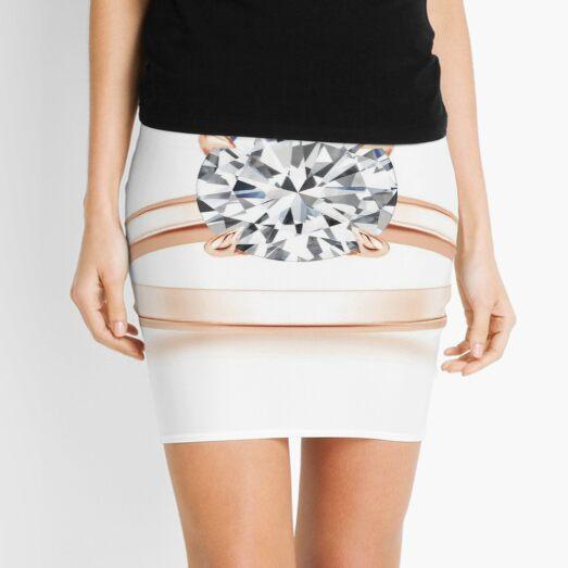 Engagement #ring #yellow #gold #diamond Mini Skirt
