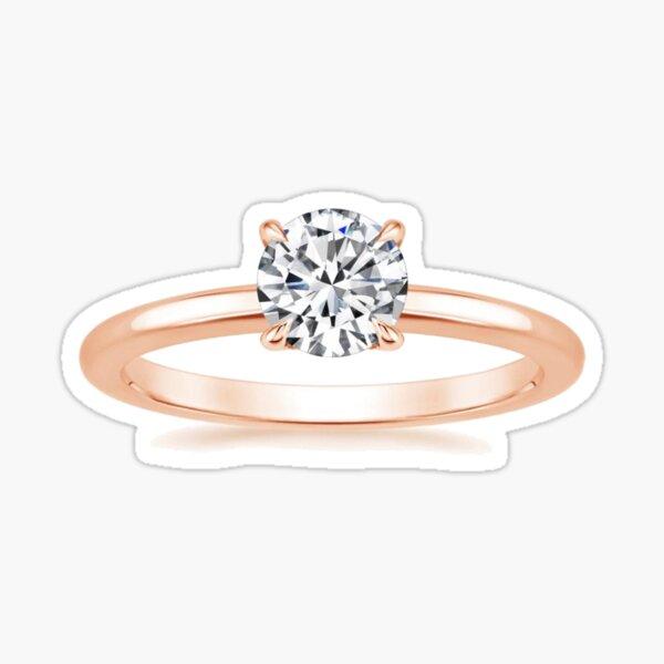 #Engagement #ring #yellow #gold diamond Sticker