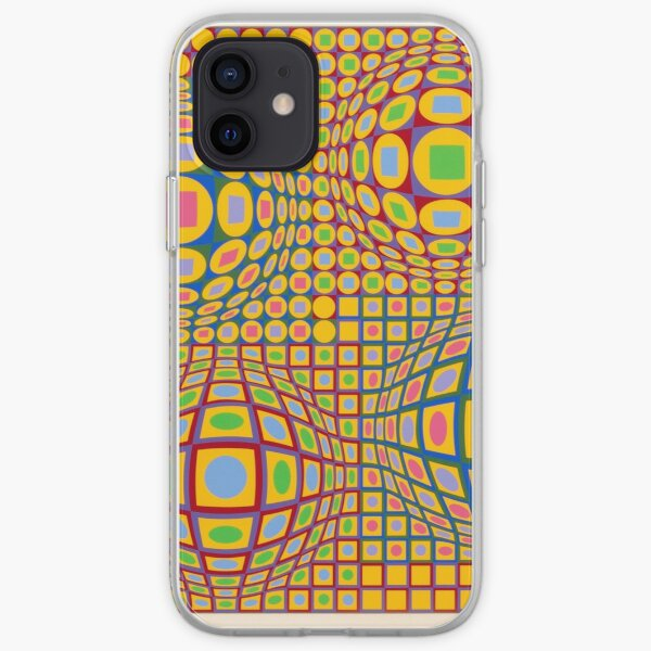 Op Art. Victor #Vasarely, was a Hungarian-French #artist, who is widely accepted as a #grandfather and leader of the #OpArt movement iPhone Soft Case