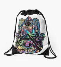 Illuminati Hamsa Drawstring Bag