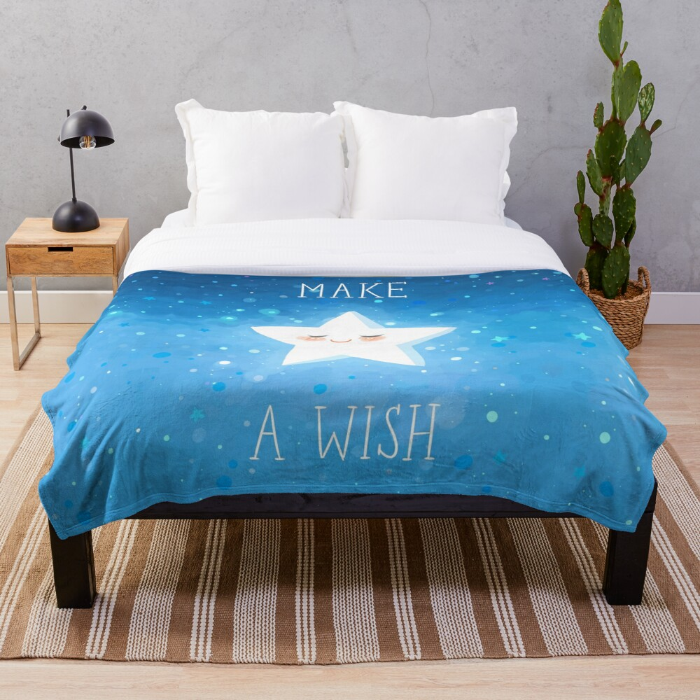 Make a Wish Throw Blanket