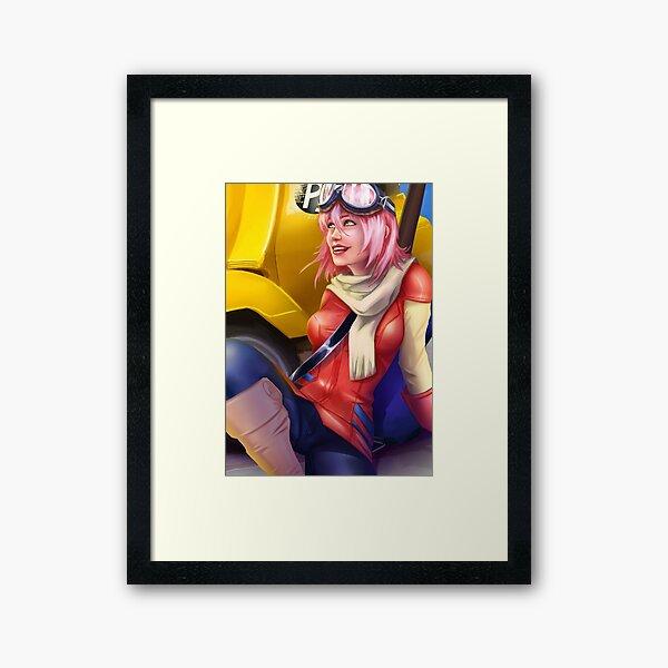 Motorcycle Driver Framed Art Print