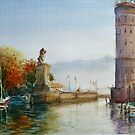 Lake Constance, Germany watercolor by Almondtree