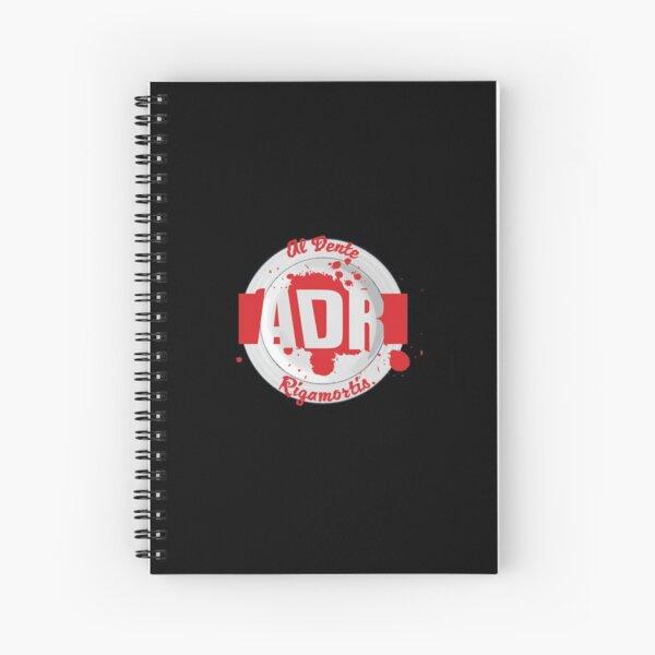 Al Dente Rigamortis Mk1 Podcast Logo Spiral Notebook