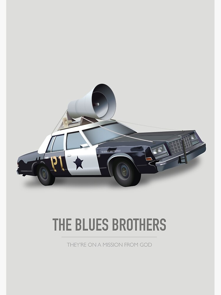 The Blues Brothers - Alternative Movie Poster by MoviePosterBoy