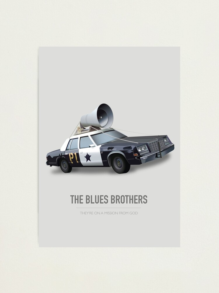 Alternate view of The Blues Brothers - Alternative Movie Poster Photographic Print