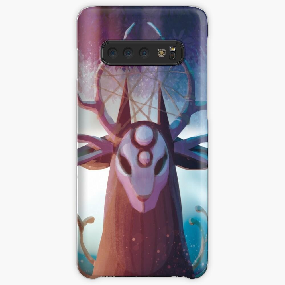 Alpha Hirsch Hülle & Klebefolie für Samsung Galaxy