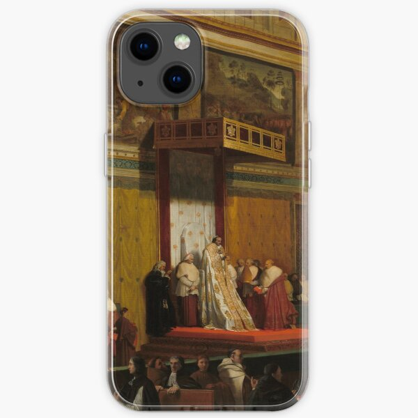 Pope Pius VII in the Sistine Chapel Oil Painting by Jean-Auguste-Dominique Ingres iPhone Soft Case