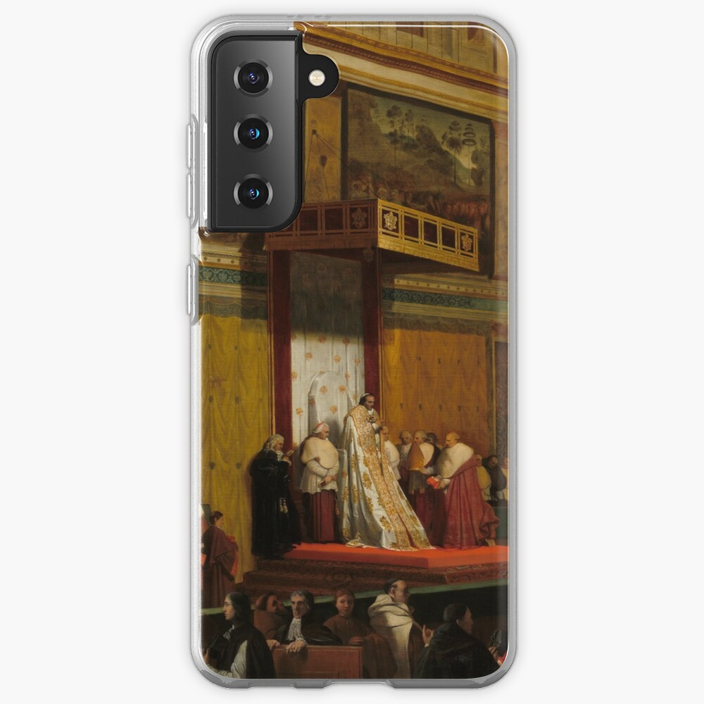 Pope Pius VII in the Sistine Chapel Oil Painting by Jean-Auguste-Dominique Ingres Case & Skin for Samsung Galaxy