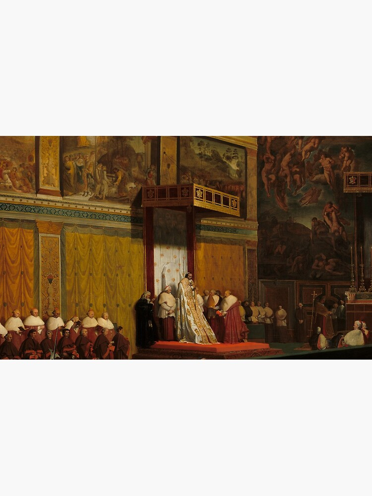 Pope Pius VII in the Sistine Chapel Oil Painting by Jean-Auguste-Dominique Ingres by podartist