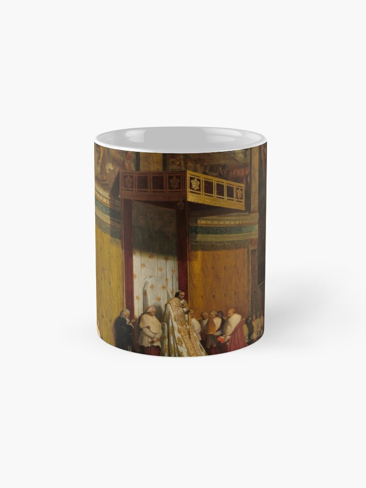Alternate view of Pope Pius VII in the Sistine Chapel Oil Painting by Jean-Auguste-Dominique Ingres Mug