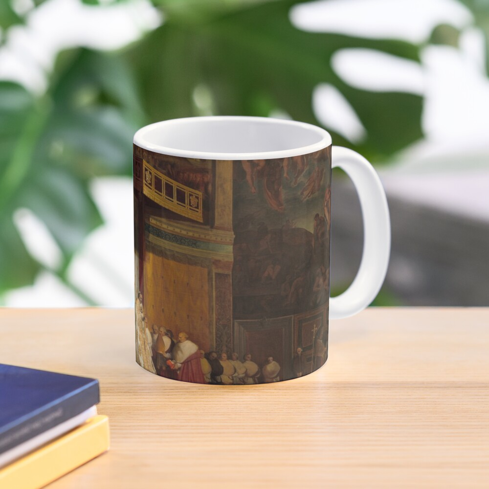 Pope Pius VII in the Sistine Chapel Oil Painting by Jean-Auguste-Dominique Ingres Mug