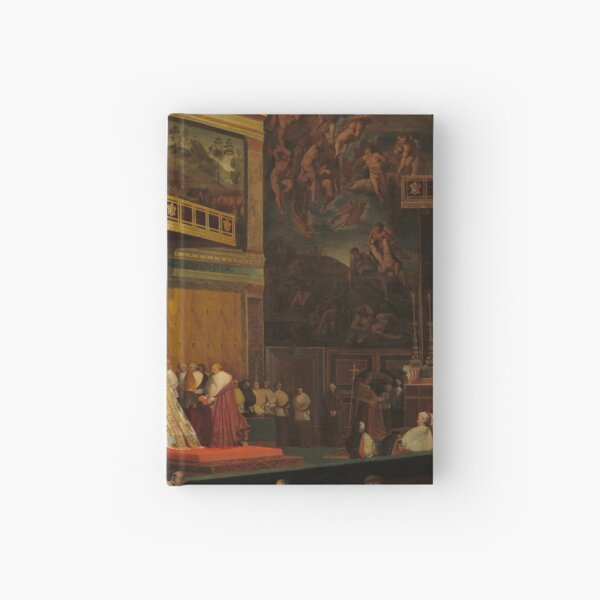 Pope Pius VII in the Sistine Chapel Oil Painting by Jean-Auguste-Dominique Ingres Hardcover Journal