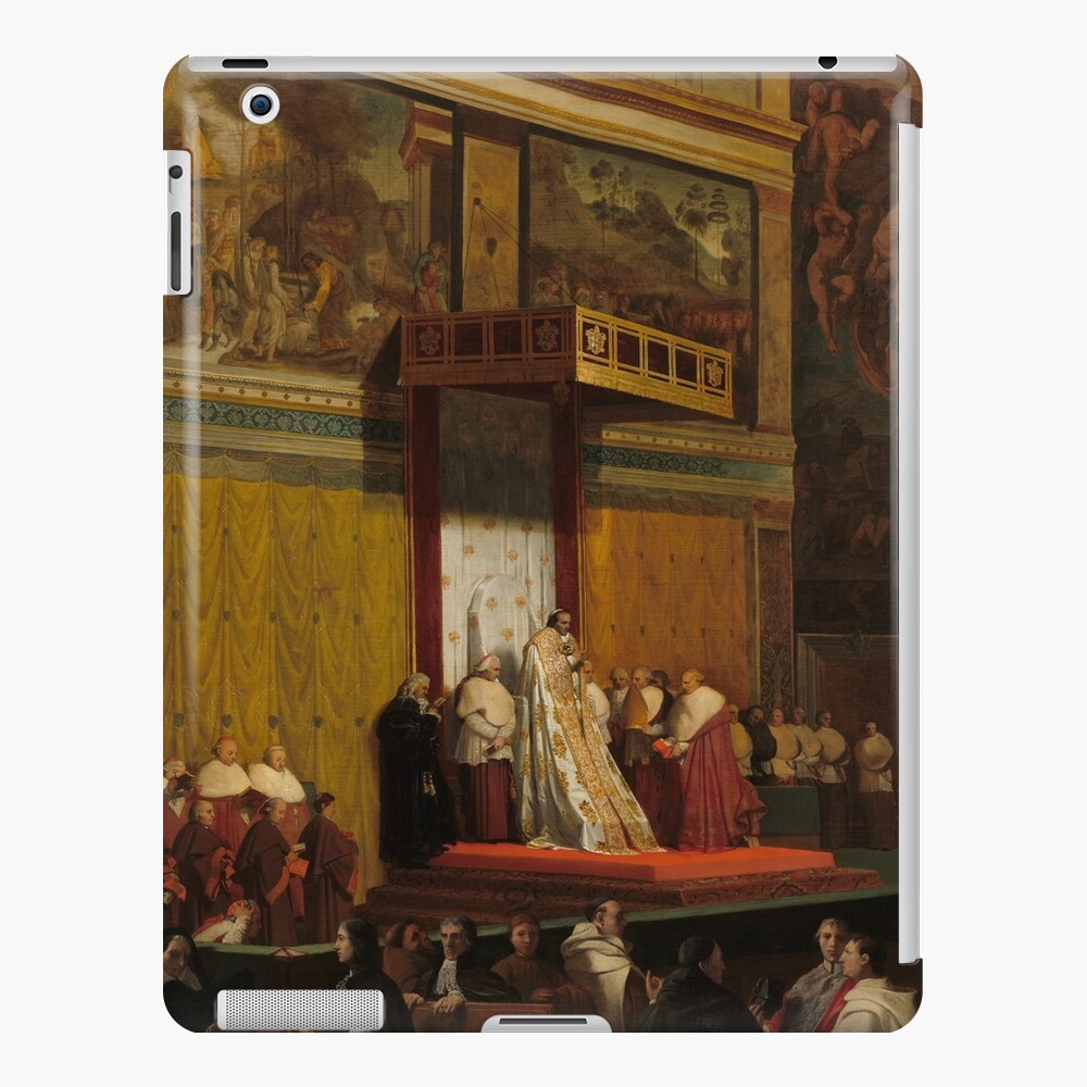 Pope Pius VII in the Sistine Chapel Oil Painting by Jean-Auguste-Dominique Ingres iPad Case & Skin