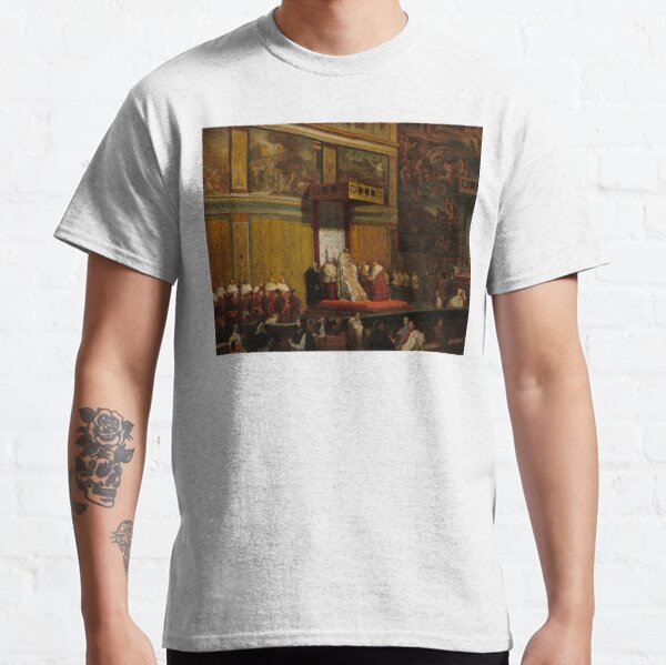 Pope Pius VII in the Sistine Chapel Oil Painting by Jean-Auguste-Dominique Ingres Classic T-Shirt