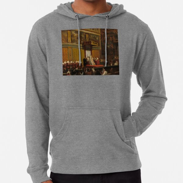 Pope Pius VII in the Sistine Chapel Oil Painting by Jean-Auguste-Dominique Ingres Lightweight Hoodie