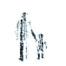 8 bit pixel pedestrians (dark) by Pekka Nikrus