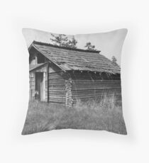 Old Cabin Throw Pillow