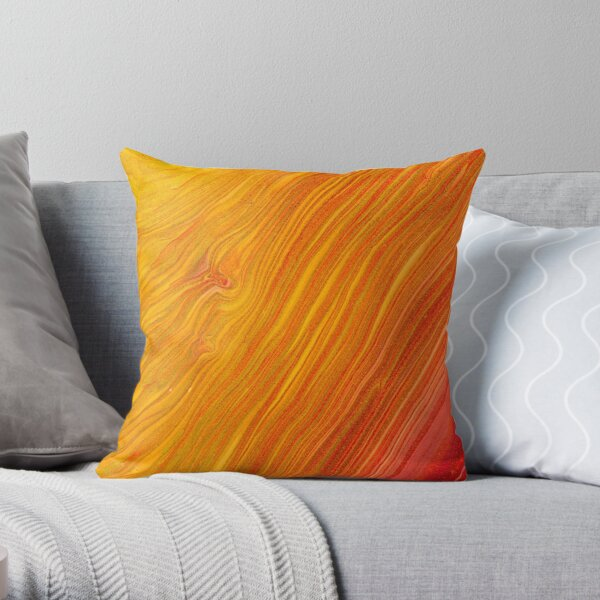 Ethereal Gold Marble  Throw Pillow