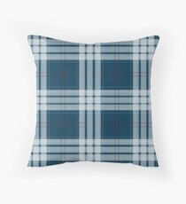 Blue Tartan Throw Pillow