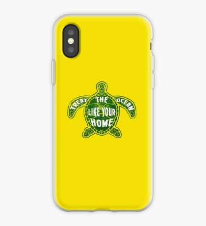 Treat the Ocean like your Home iPhone Case