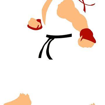 Ryu - Street Fighter - Minimalist by hidden-arts