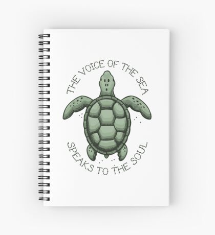 The Voice of the Sea Speaks to the Soul Spiral Notebook