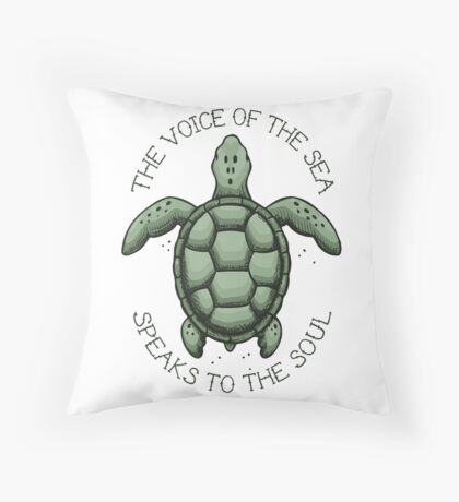 The Voice of the Sea Speaks to the Soul Throw Pillow