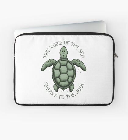 The Voice of the Sea Speaks to the Soul Laptop Sleeve