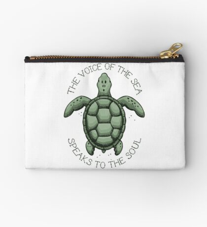 The Voice of the Sea Speaks to the Soul Zipper Pouch