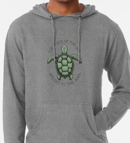 The Voice of the Sea Speaks to the Soul Lightweight Hoodie