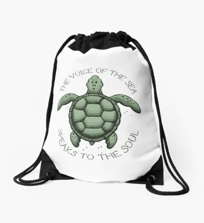 The Voice of the Sea Speaks to the Soul Drawstring Bag