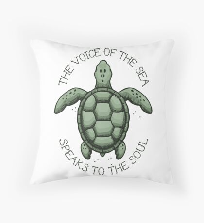 The Voice of the Sea Speaks to the Soul Floor Pillow