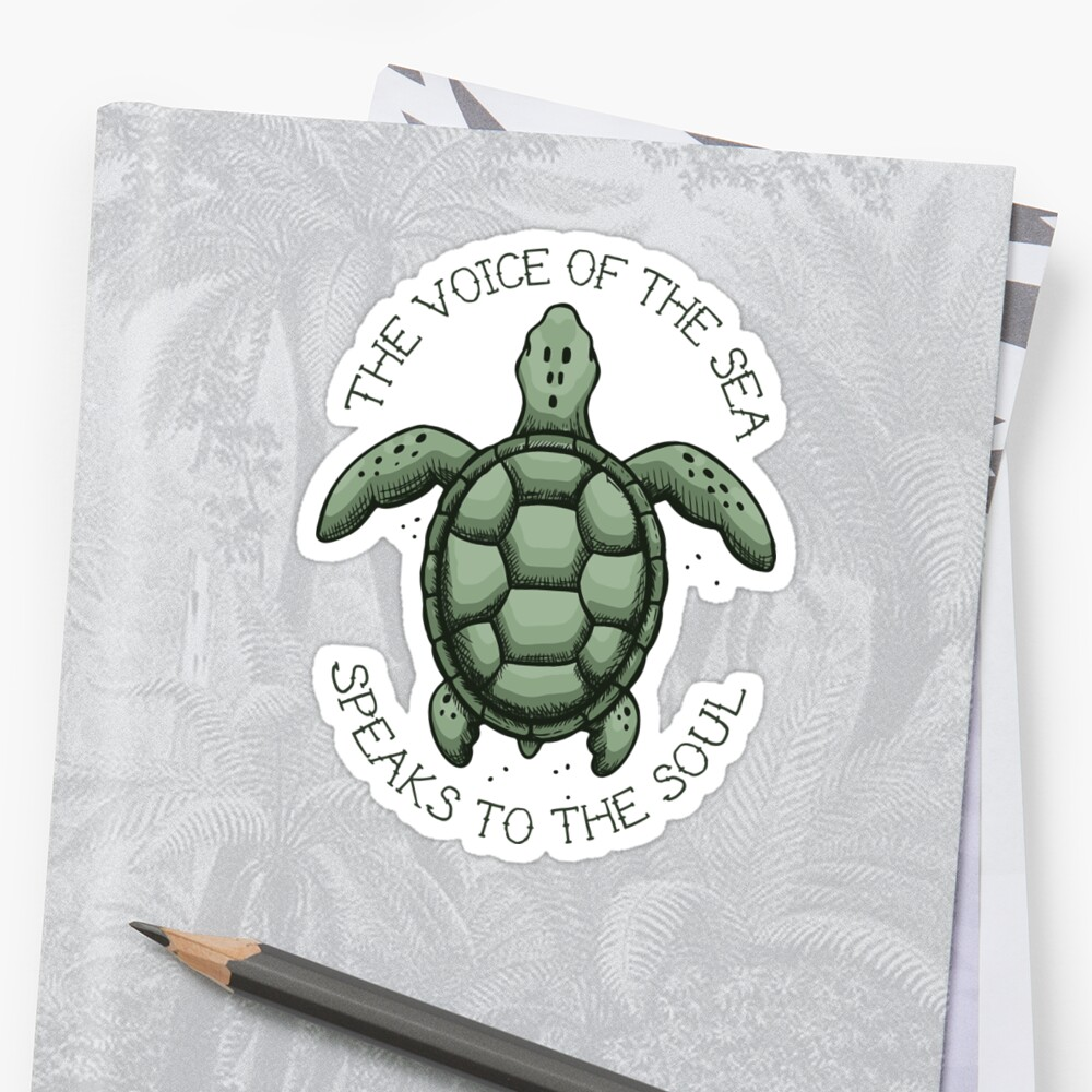 The Voice of the Sea Speaks to the Soul Sticker