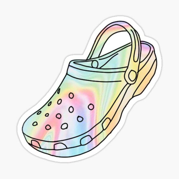 Pastel Tie Dye Crocs Sticker