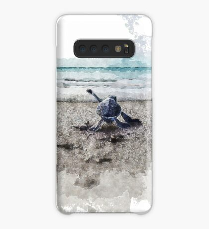 Baby Sea Turtle Waling - Watercolor  Case/Skin for Samsung Galaxy