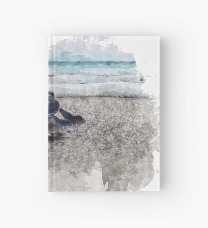 Baby Sea Turtle Waling - Watercolor  Hardcover Journal