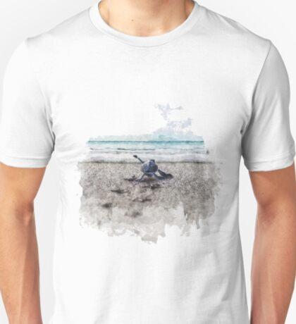 Baby Sea Turtle Waling - Watercolor  T-Shirt