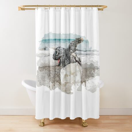 Baby Sea Turtle Hatching - Watercolor Shower Curtain