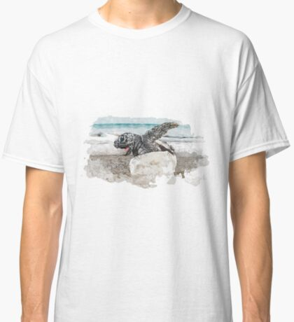 Baby Sea Turtle Hatching - Watercolor Classic T-Shirt