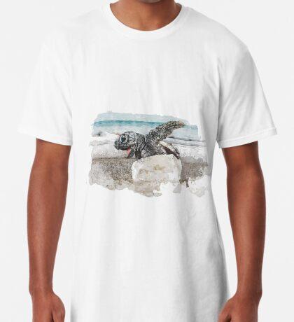 Baby Sea Turtle Hatching - Watercolor Long T-Shirt